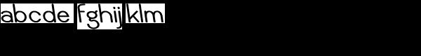 Caluminy Bold Left Font LOWERCASE