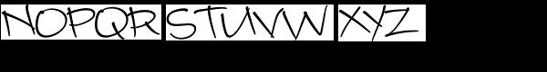 Camy Normal Medium Font UPPERCASE