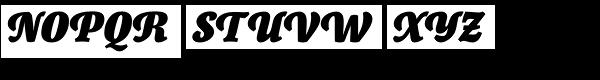 Canciller Black Font UPPERCASE