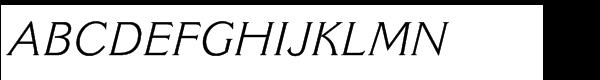 Cantoria® Std Italic Font UPPERCASE