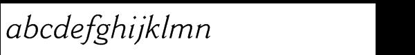Cantoria® Std Italic Font LOWERCASE