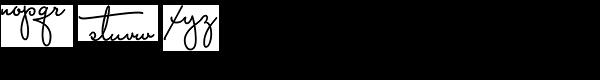 Capistrano BF Font LOWERCASE