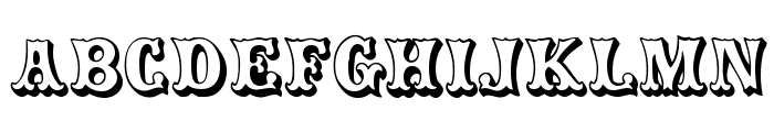 CarnivalMF OpenShadow Font LOWERCASE