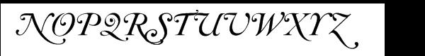 Caslon 540 Swash Italic (D) Font UPPERCASE