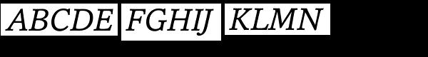 Cassia Italic Font UPPERCASE