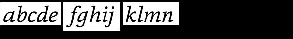 Cassia Italic Font LOWERCASE
