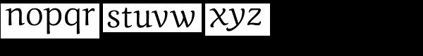 Caturrita Font LOWERCASE