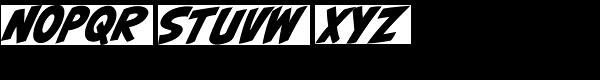 CCBiff Bam Boom Font UPPERCASE