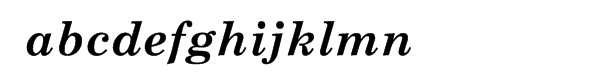 Century Schoolbook Cyrillic Bold Inclined Font LOWERCASE
