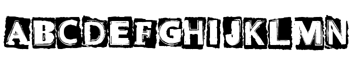 CF Punk Attitude Regular Font UPPERCASE