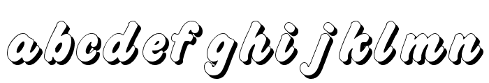 Challenge Shadow Font LOWERCASE