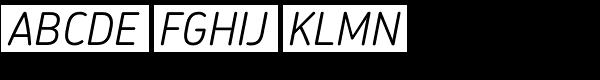 Chevin Std Light Italic Font UPPERCASE