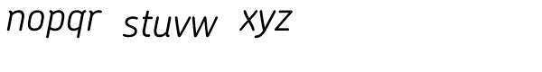 Chevin Std Light Italic Font LOWERCASE