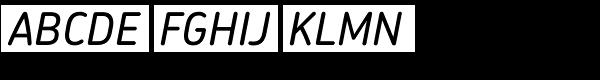 Chevin Std Medium Italic Font UPPERCASE