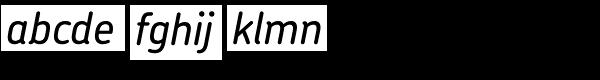 Chevin Std Medium Italic Font LOWERCASE