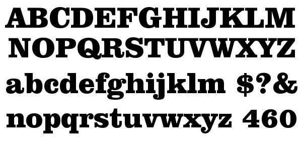 Clarendon Black BT Font - What Font Is