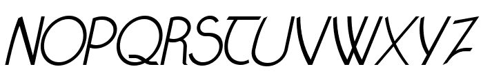 Claritty_Italic Font UPPERCASE