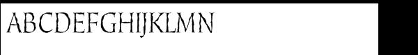 Cold Mountain Regular Font UPPERCASE