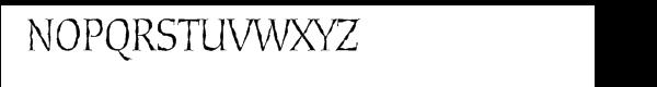 Cold Mountain™ SX Font UPPERCASE