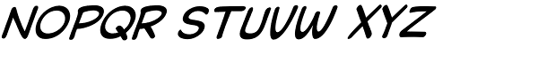 Collector Comic Italic Font LOWERCASE
