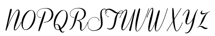 Coneria Script Demo Font UPPERCASE