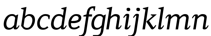 Contra Italic Font LOWERCASE