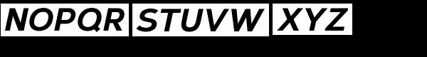 Corbert Extra Bold Italic Font UPPERCASE