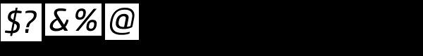 Core Sans M SC 45 Regular Italic Font OTHER CHARS