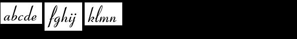 Coronet Com Regular Font LOWERCASE
