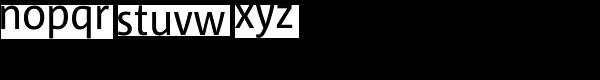 Corpid SemiCond Regular Font LOWERCASE