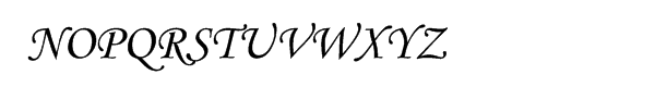 Corsiva® Monotype Cyrillic Alternate Two Font UPPERCASE