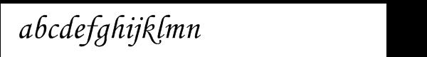 Corsiva® Monotype Cyrillic Alternate Two Font LOWERCASE