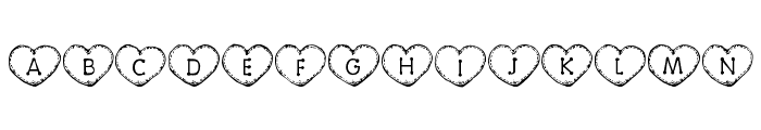 Country Hearts Font UPPERCASE