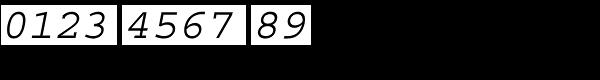CourierStd-Oblique Font OTHER CHARS