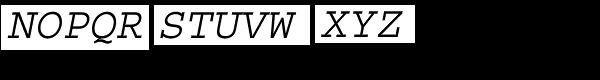 CourierStd-Oblique Font UPPERCASE