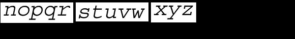 CourierStd-Oblique Font LOWERCASE