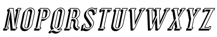 Covington SC Shadow Italic Font UPPERCASE