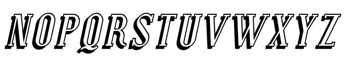 Covington SC Shadow Italic Font LOWERCASE