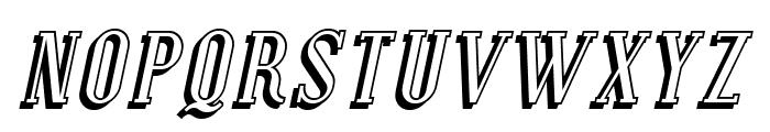 Covington Shadow Italic Font UPPERCASE