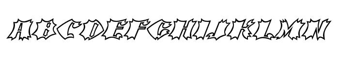 Crash Open Font UPPERCASE