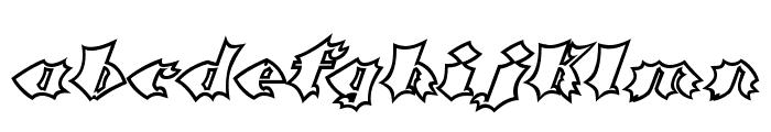 Crash Open Font LOWERCASE