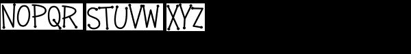 Crazy Girlz Blond BTN Font UPPERCASE