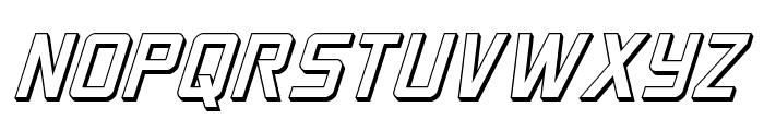Crixus 3D Italic Font LOWERCASE