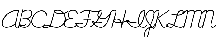 Cursive Handwriting Tryout Font UPPERCASE