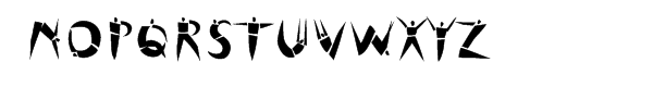 Cutout Font UPPERCASE