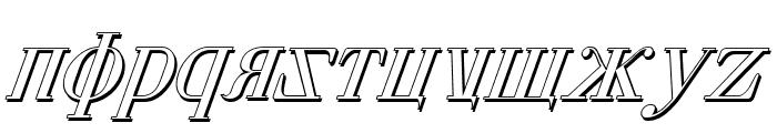 Cyberia Shadow Italic Font LOWERCASE