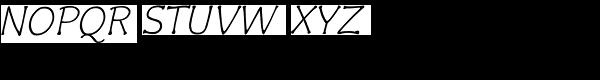Czaristane Oblique Font UPPERCASE