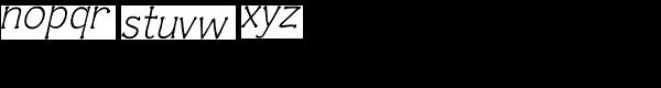 Czaristane Oblique Font LOWERCASE