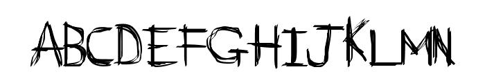 D_rough Normal Font UPPERCASE