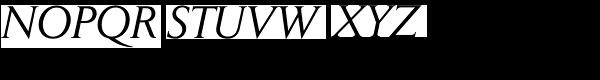 Daily News Pro Italic Font UPPERCASE